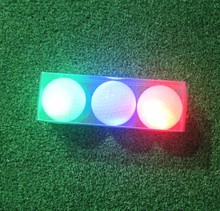 3pcs red / green / blue assorted color Great quality night golf LED luminous glowing golf ball(China)