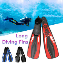 Professional Swimming Fins Submersible Long Swimming Snorkeling Foot Scuba Snorkel Shoes Diving Fins Flippers Water Sports M
