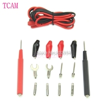 1Set Multifunction Digital Multimeter Probe Test Leads / Alligator Clip Test Kit -S018 High Quality