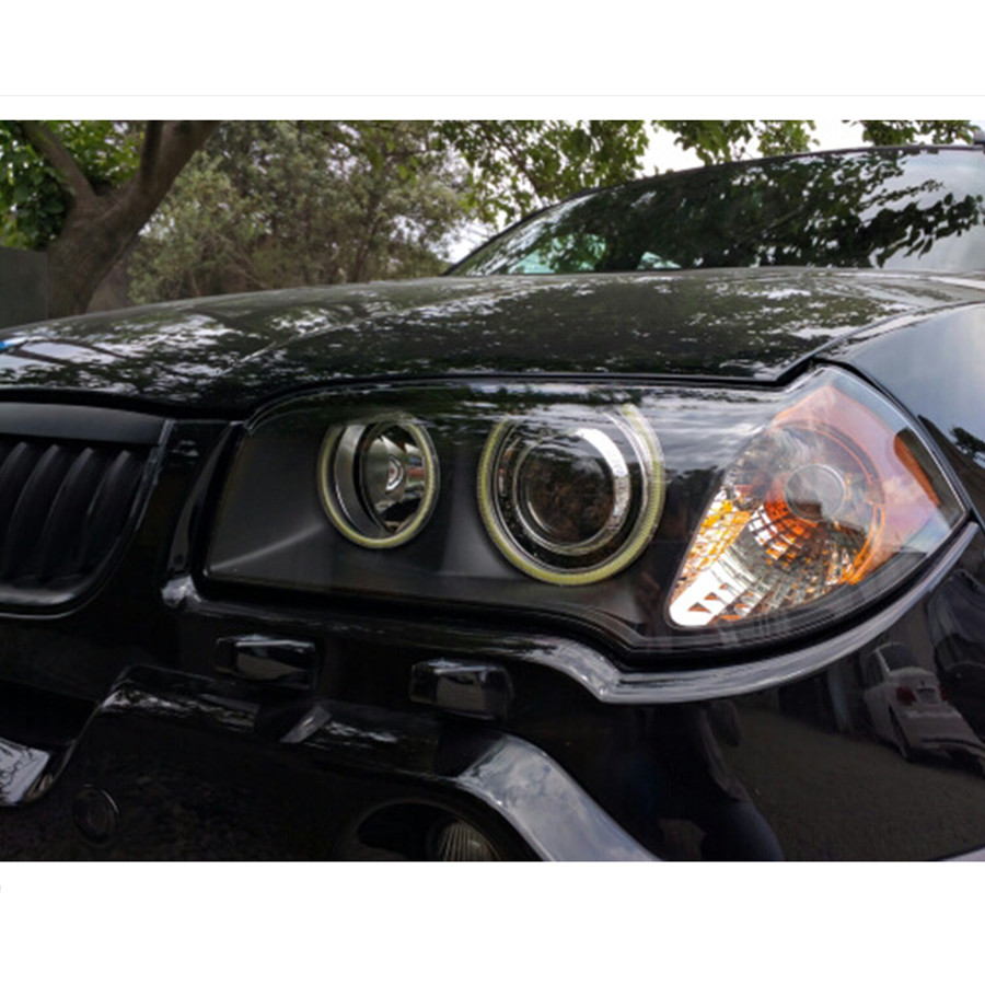 LED Angel Eyes COB 2PCS Auto Halo Ring 60MM 70MM 80MM 90MM 100MM 110MM 1MM Car Motorcycle With Lampshades 12V For BMW E60 E39 21