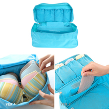 Waterproof Women Girl Portable Travel Bra Underwear Organizer Bag Storage Lingerie Cosmetic Makeup Toiletry Wash Storage Case(China)