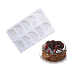 10 Holes Sector Silicone Fondant Molds Decorating Tool For Chocolates Cakes Cookie Dessert(China)