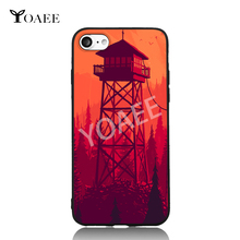 Fire Watch Game Scenery Fun Art For iPhone 6 6s 7 Plus Case TPU Phone Cases Cover Mobile Protection Decor Gift(China)