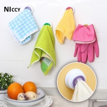 1pc Hook for Towel Creative PVC Pegs 4 Color Select Kitchen Towel Organizer Holder Bathroom Accessory 2017 New Fashion