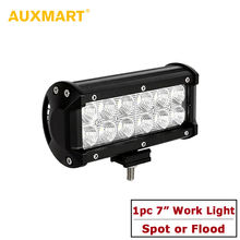 Auxmart 7 inch 36W Cree Chips LED Work Light Spot/Flood Beam Offroad Auto Driving Lamp Mercedes/Chevrolet/Cruze/Ford/Focus/BMW - Official Store store