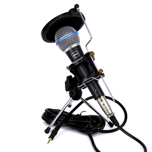 Professional BETA 58A 58 Dynamic Wired Karaoke Microphone 3.5mm Jack Wire With Desktop Stand Windscreen For KTV Computer Studio(China)