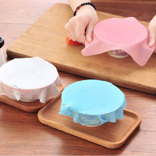 Hot Sale Lovely Cartoon Style Kitchen Tools Silicone Seal Cover Reusable Keep Food Fresh Plastic Wrap(China)