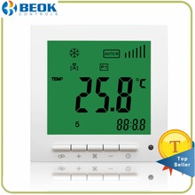 Beok TOL63S-AC4 Pipe Fan Coil Room Thermostat Programming Air Conditioning Temperature Controller, AC Thermostat, energy-saving(China)