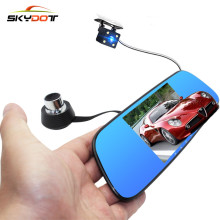 SKydot 5.0 Inch Car DVR Dash Cam Dual Lens Rearview Mirror With Front And Rear Camera FHD 1080P Night Vision Auto Video Recoder(China)