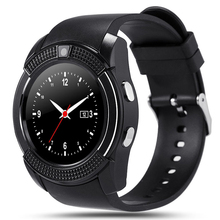 2017 new 1.22 inch Q9 Bluetooth smart watch Russia whatsApp Facebook camera music synchronizer SIM card Android SmartWatch(China)