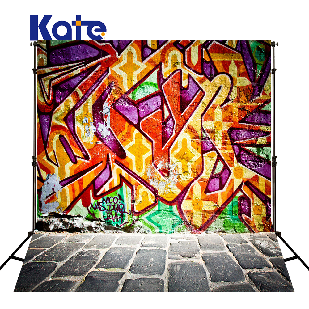 KATE Graffiti Background Photography Backdrops Brick Wall Backdrop Vintage Photography Backdrops Newborn Photography Background<br>