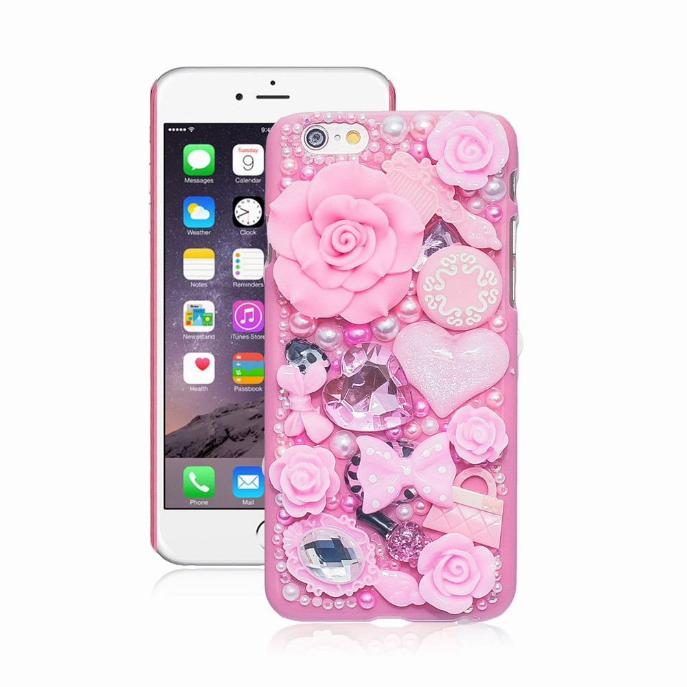 Pearl Crystal 3D Case For iPhone 7 plus 6 5 5S 5C 6 plus Hard Cover Phone Cases For Apple iPhone 6S Case accessories protector(China (Mainland))