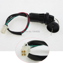 Free Shipping ATV Key Ignition switch 4 wires 4 pins female plug on body50 70 90 110 125 150 200 250 CC TaoTao SUNL NEW