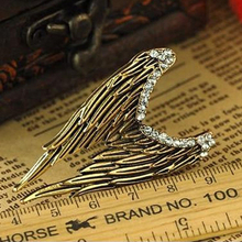 Anel Hot Sale Men Metal Party 2017 New Arrival Retro Stereo Legends Vintage Angel Wings Rings Jewelry Accessories Bestselling