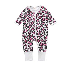 Baby leopard Overalls Body Suits Long Sleeve Babies Newborn Clothes Clothes Girl Sliders Children Clothes Ropa Overalls JP-144(China)