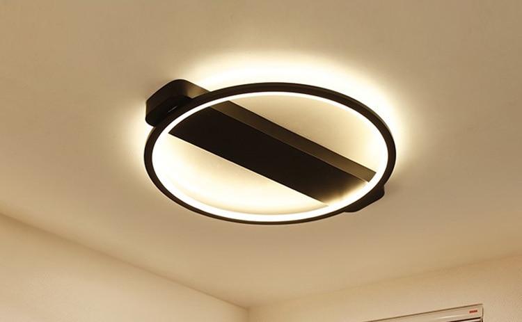 Plafoniere Moderne Led Prezzi : Acquista plafoniere moderne del led dell anello nero i dispositivi