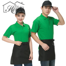 Chef Cooking Half Waist Apron With Pockets Polyester Delantales Restaurant Bar Kitchen Waist Apron Tablier Cuisine For Men Women