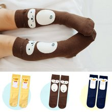 Cute Infant Toddler Cotton Socks Kids Leg Warmers Knee High Pad Legs Boots 0-4Y