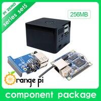 New Orange Pi Zero Set 5:Orange Pi Zero 256MB+Expansion Board+Black Case development board beyond Raspberry Pi