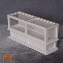 Wooden White Shop Display Cabinet Dollhouse Miniature Furniture 1/12 scale #C016