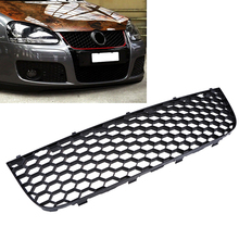 1 Pcs Car Front Center Bumper Lower Grill For VW Golf MK5 GTI 2004-2009 Car-Styling 1K0 853 677 B Grille Grills Vent(China)