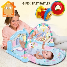 MiniTudou Baby Activity Play Mat Baby Gym Educational Fitness Frame Multi-bracket Baby Toys 0-12 Months Game Mats For Kids(China)