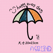 """Happy every day"" Pattern Heat Transfer Printing Iron On Patches Applique for Clothes T-shirt Decoration 1pcs(China)"