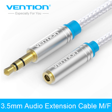 Vention jack 3.5mm male to female Audio Cable Headphone Aux Extension Cable 0.5m 1m 1.5m 2m 3m for Computer Cellphone DVD MP3/4(China)