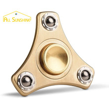 Hand Spinner Fidget EDC Spinner Ultra Durable ADHD Toy Brass Copper Tri Spin Toy Stress Relief Desk Toy