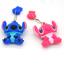 genuine /4G/8G/16G/32G 64gb cartoon flash drive cute stitch pen drive silicone usb flash drive ,U Disk