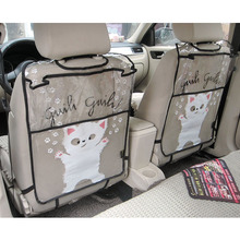 Firstplus Environmental Car Back Seat Protector Kicking Mat Case Cover For iPAD 2/3/4/Air/Mini and Drink Catoon Styling(China)