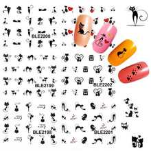 2017 Fashion 11pcs 3D Cat Nail Art Stickers Decals Girl Fingernail Accessories Decoration Manicure
