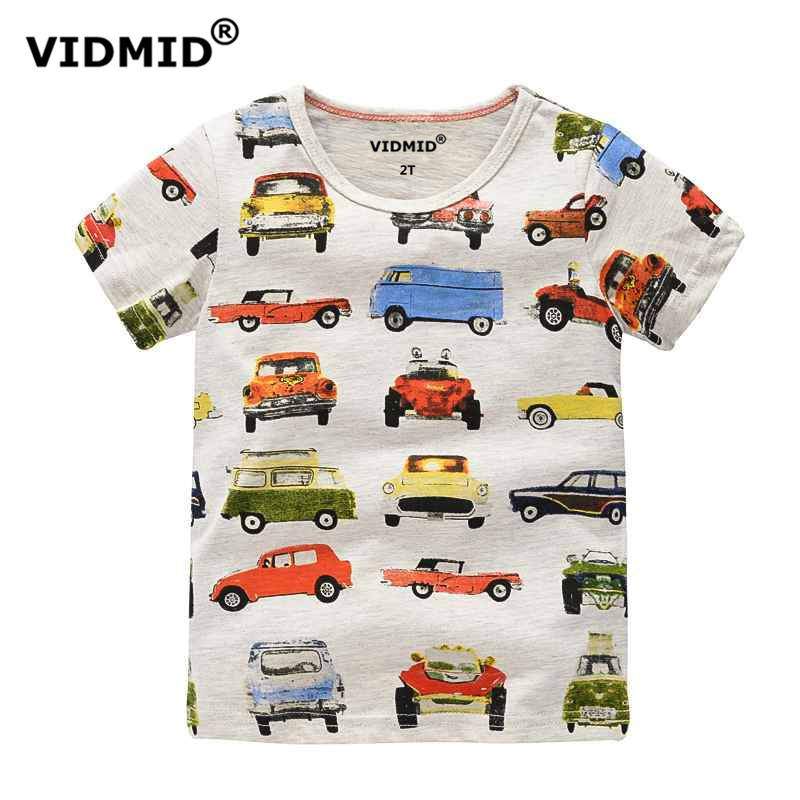 VIDMID 1-10Y Children\'s T shirt boys t-shirt Baby Clothing Little boy Summer shirt Tees Designer Cotton Cartoon Dinosaur brand