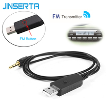 JINSERTA Universal Car Stereo Audio FM Transmitter 5V USB 3.5mm Wireless Transmitter For TV PC DVD