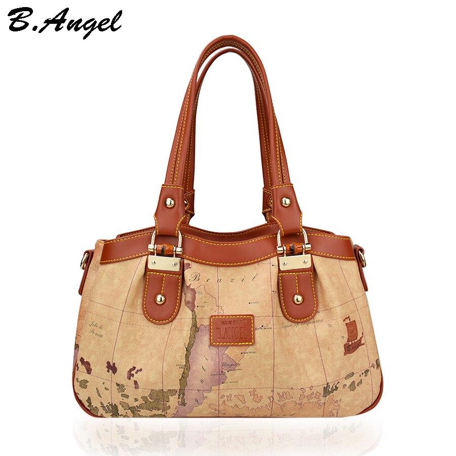 Vintage world map women bag women messenger bags luxury handbags women bags designer leather handbags bags women shoulder bags<br><br>Aliexpress
