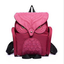 2017 Fashion latest cool black PU leather owl backpack women hot ladies shoulder school bag youth Preppy Style Mochila Sac(China)