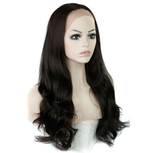 MISS WIG Synthetic Lace Front Wig Long Wavy Wigs Wigs for Black Women Heat Resistant(China)