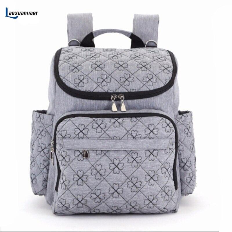 Lanxuanjiaer Baby Bag Fashion Nappy Bags Large Diaper Bag Backpack Baby Organizer Maternity  Mother Handbag Baby Nappy Bag<br>