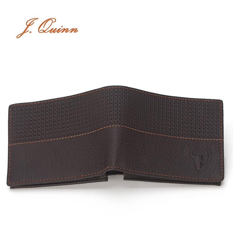 J.Quinn Men Wallets Genuine Leather Designer Wallet Plaid Short Design Mini Card Holder Id Thin Credit Card European Bifold Mens<br><br>Aliexpress