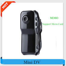 Hot ! MD80 Mini DV Camcorder DVR Video Camera Webcam Video Audio Recorder Support 32G Micro Card Sport Mini Camcorder Retail Box