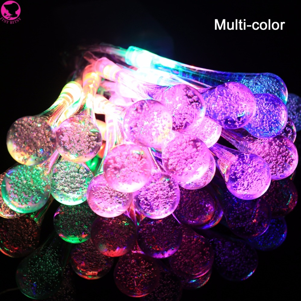 Icicle Snow Fall 2.2m 20 LED String lights Meteor Falling Star Rain Drop Xmas String Fairy Light Bulb Garden Holiday Decoration(China)