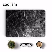 Black Marble Texture Laptop Full Cover Skin for MacBook Sticker Air Pro Retina 11 12 13 15 inch Protective Notebook Decal Skin(China)