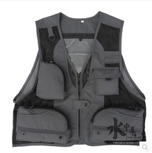 special hot mesh Photography vest male models fishing vest silver-gray fishing clothing outdoor vest life vest  Angler Waistcoat