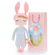"METOO Rabbit Angela Dolls Girl Wear Skirt Plush Toys Stuffed Gift Toys for Kids Girl Bunny Dolls18*4"" for Gifts(China)"