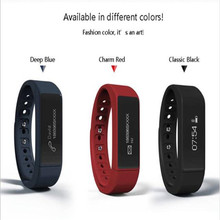 High Quality Fashion I5Bluetooth 4.0 Bracelet Sports Tracking Wristband Call Message Reminding Smart Watch Free Shipping NOM05