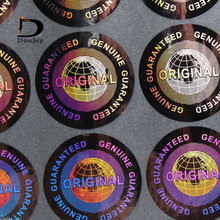 Stock Original genuine guaranteed 3d hologram stickers 20mm anti counterfeit stickers one time use ONLY 1000pcs lot