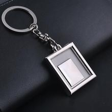 Trendy Key Chains High Quality Transparent Clear Insert Photo Picture Frame Key Ring Chain Keychain 1 Pc