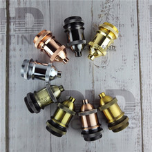Free shipping Vintage Retro style Glazed Ceramic Edison Screw ES E27 Heat Light Bulb Lamp Holder Socket M10 Threaded light base