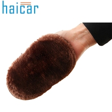 Haicar Shoe Brush Soft Faux Wool Cloth Shoes Polisher Cleaning Cleaner Glove Brush U61228(China)