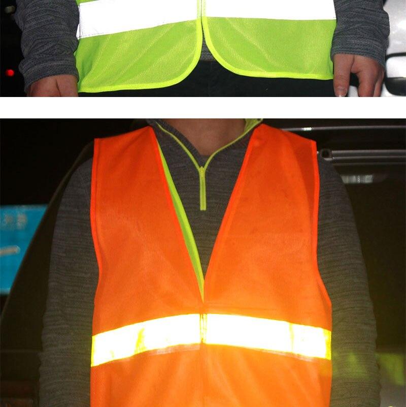 1pcs Car Motorcycle Reflective Vest Auto Safety Clothing High Visibility Traffic Emergency Warning Coat Reflect Stripes Cloth (6)